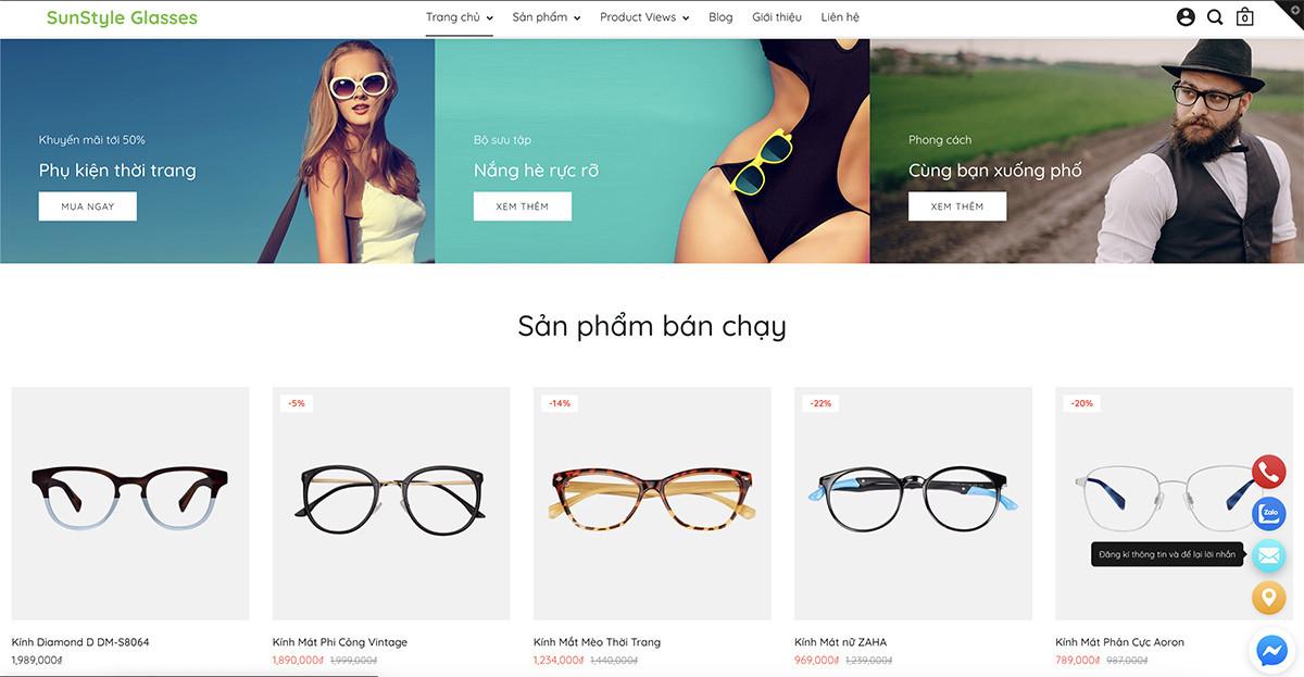 Website Haravan tích hợp sẵn icon liên hệ, giúp người mua kết nối nhà bán hàng dễ dàng hơn